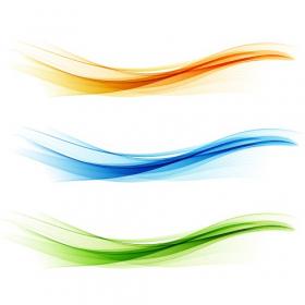 Ảnh chụp thiết kế sóng màu. Sóng vàng, xanh dương và xanh lá cây
