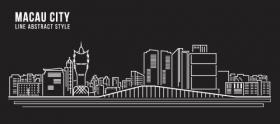 Vector xây dựng nghệ thuật thành phố Macau